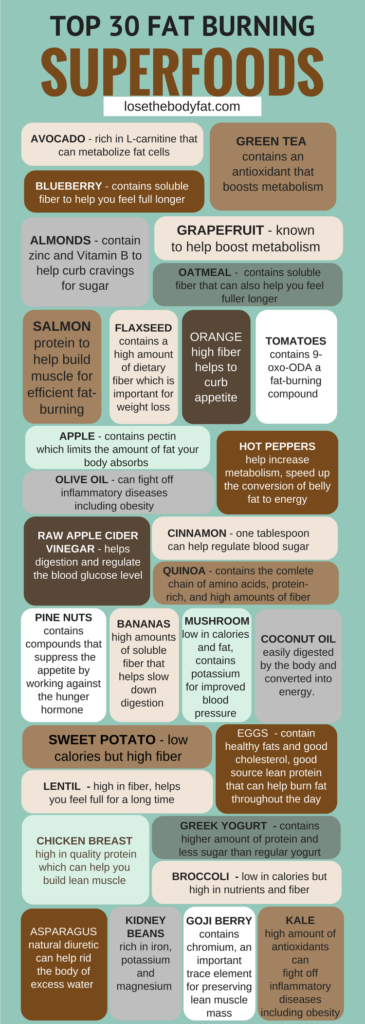 Top 30 Fat Burning Superfoods